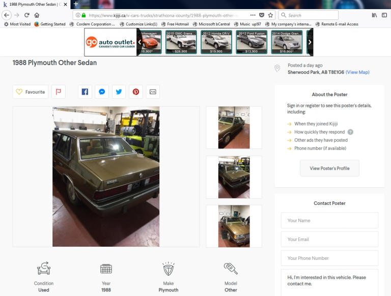 Car on Kijiji